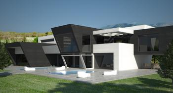 Santiago mart nez arquitectos vivienda en comillas - Viviendas unifamiliares modernas ...